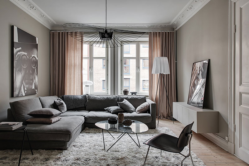 taupe interieur woonkamer