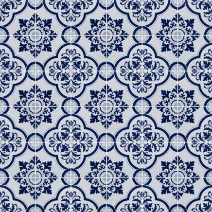 Dit ontwerp net de blauwe tegeltjes heb ik gevonden op Wallpaperdirect ...