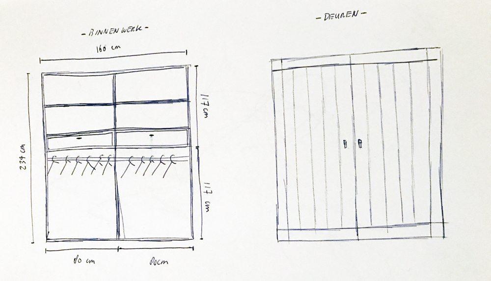 tekening-inbouwkast