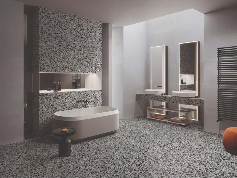 terrazzo vloer badkamer