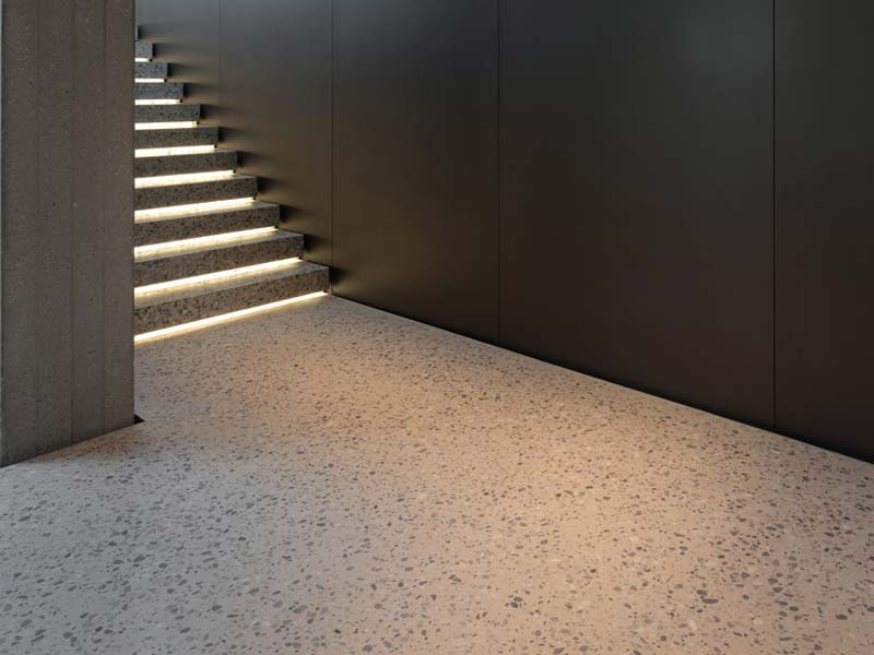 terrazzo vloer hal