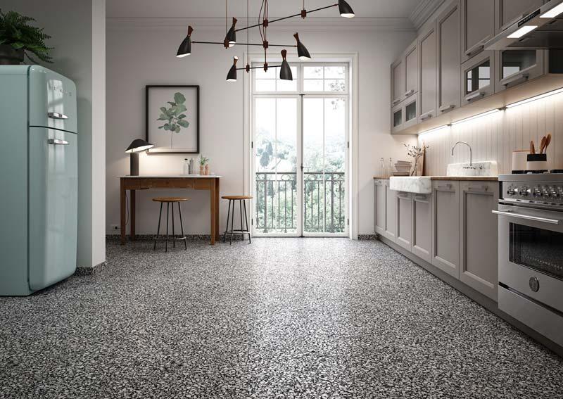 terrazzo vloer tegels badkamer
