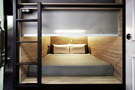 The Pod capsule hotel in Singapore