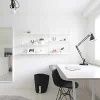 Thuiskantoor van Finse blogger en grafisch ontwerpster Tiina Ilmavirta