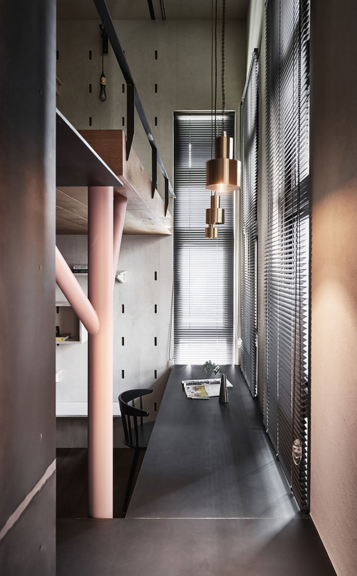 Thuiskantoor in een klein appartement van 40m2