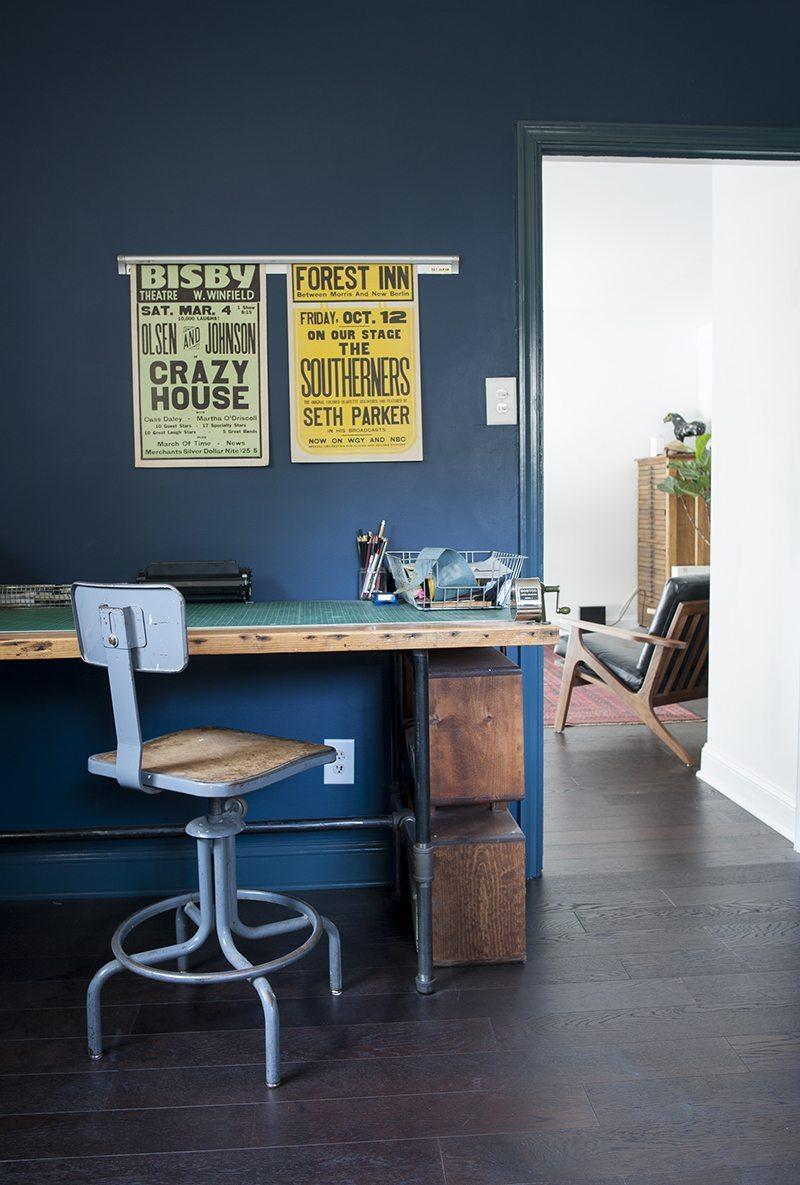 thuiskantoor-vintage-bureau