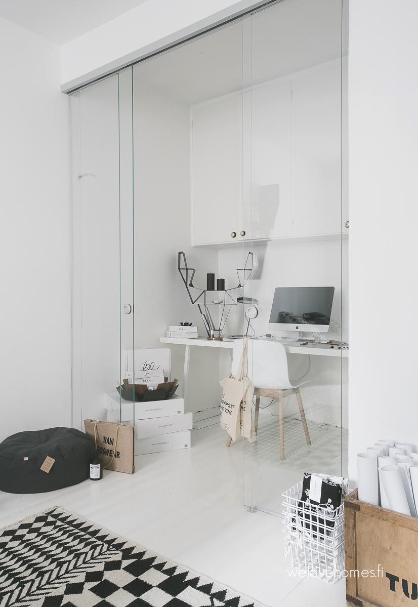 thuiswerken tips werkplek glazen wand