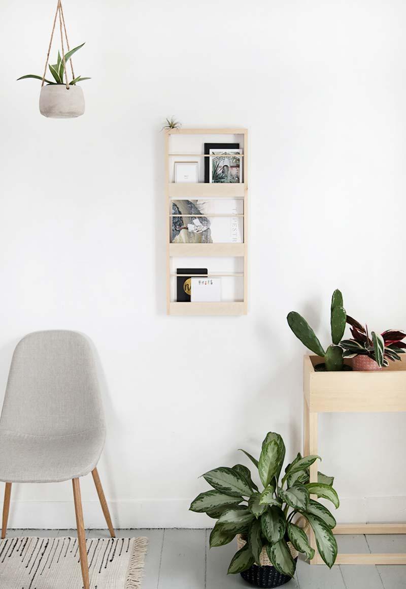 tijdschriftenrek muur organizer