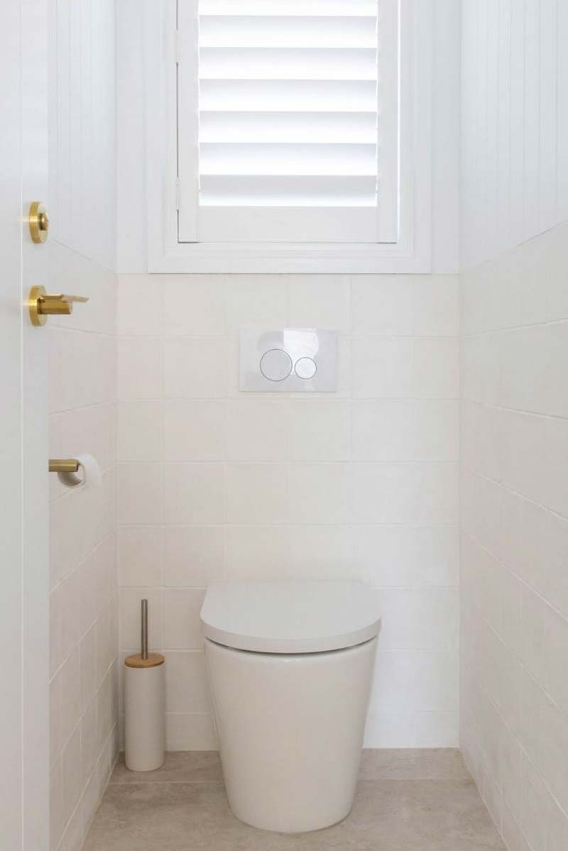 toilet houten shutters