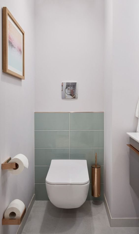 toilet inspiratie grijze tegels