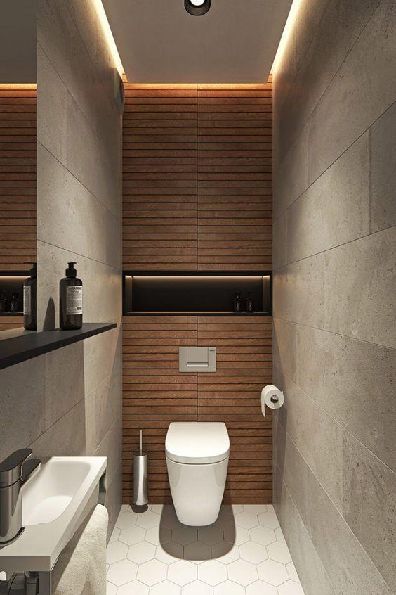 toilet inspiratie hexagon tegels