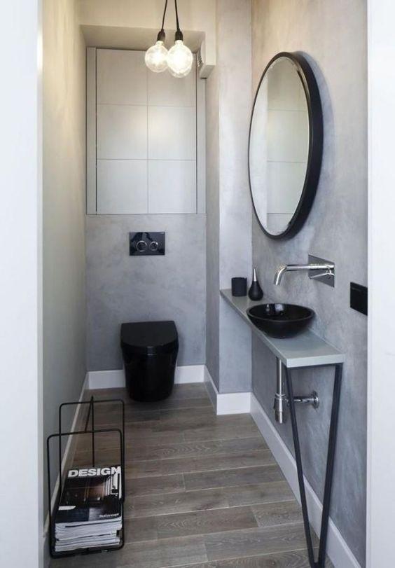 toilet inspiratie houten vloer