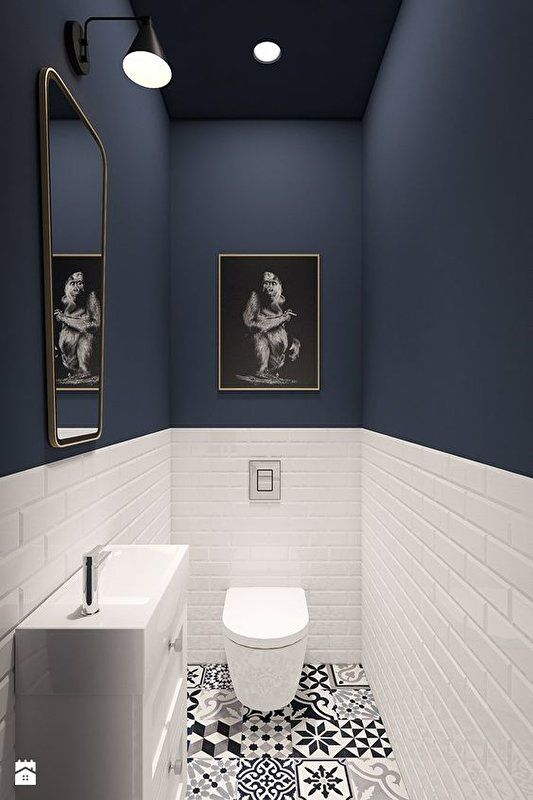 toilet inspiratie metro tegels