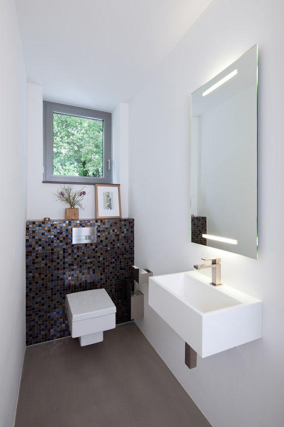 toilet inspiratie mozaiek tegels