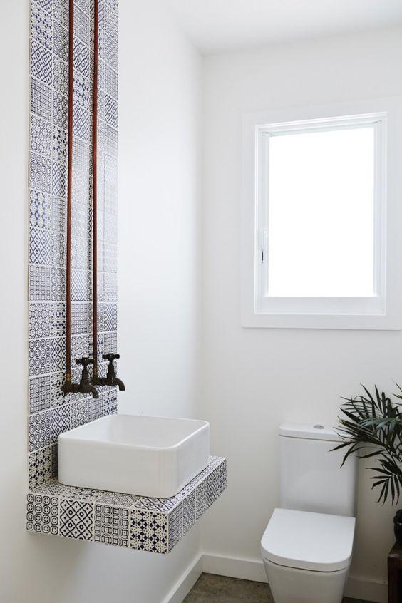 toilet inspiratie portugese tegels