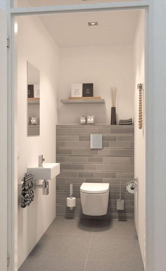toilet inspiratie tegels grijs