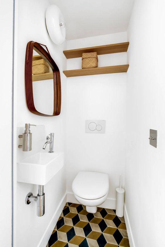 toilet inspiratie vintage tegels