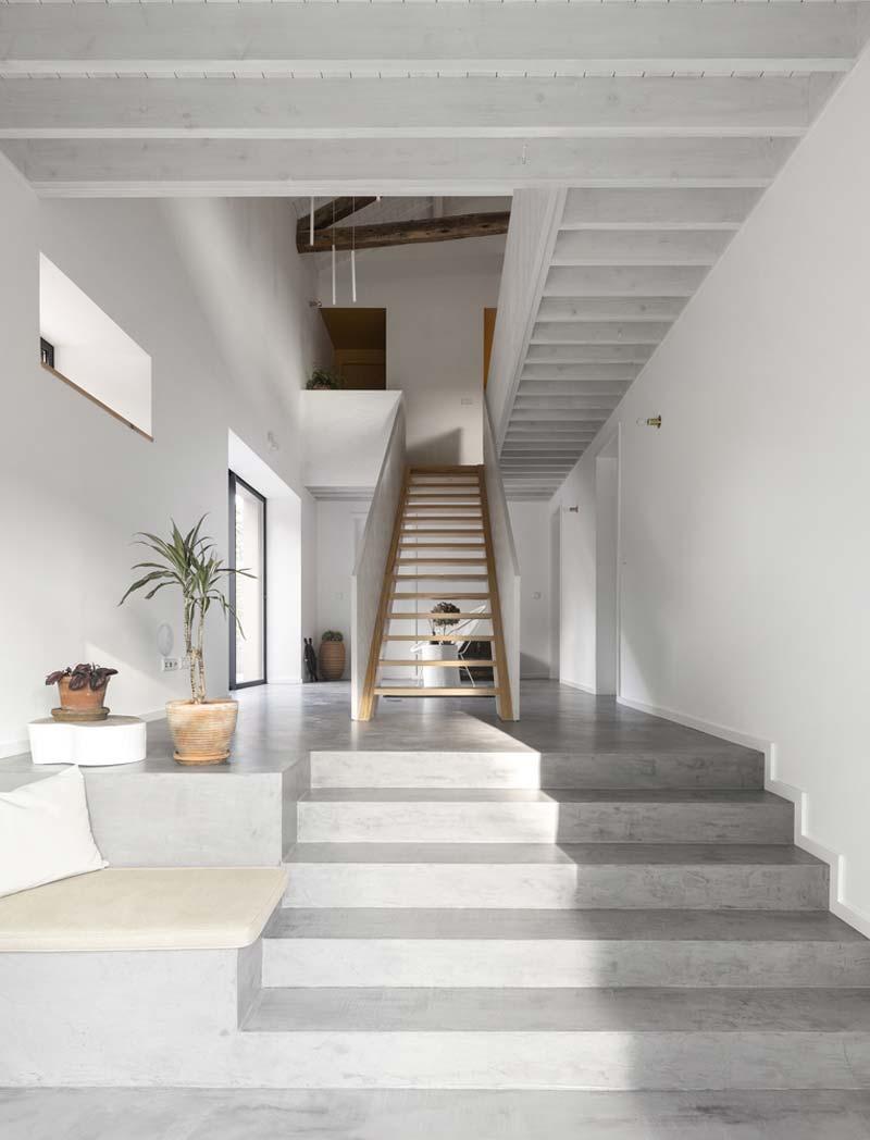 trap bekleden hout beton