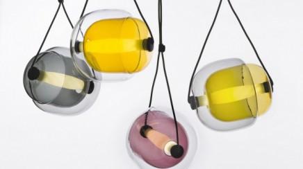 trend lampen gekleurd glas Capsula Lucie Koldova