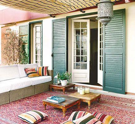 Tuin met Marokkaanse invloeden