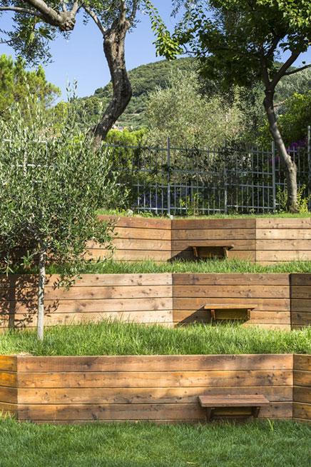Tuin ontwerp met hoogteverschillen inrichting - Tuin exterieur ontwerp ...