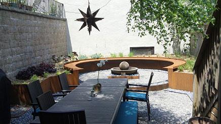Tuin ontwerp voor oud herenhuis