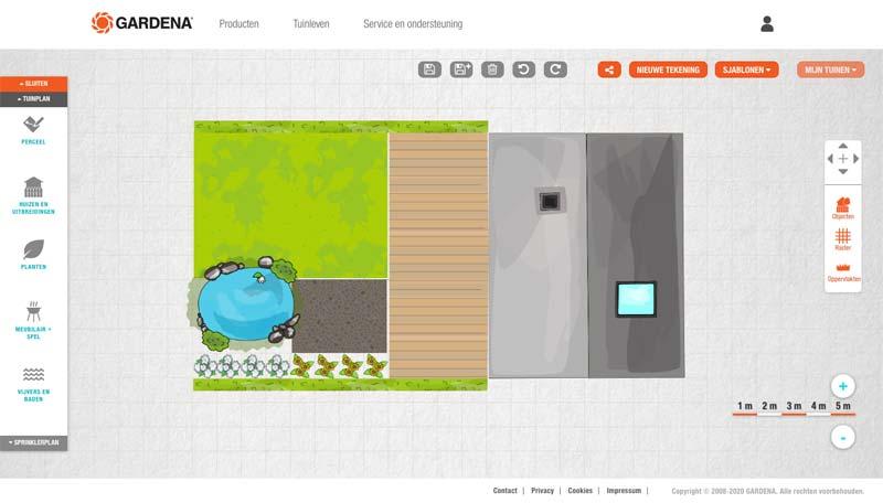 Tuin ontwerpen online tools Gardena My Garden