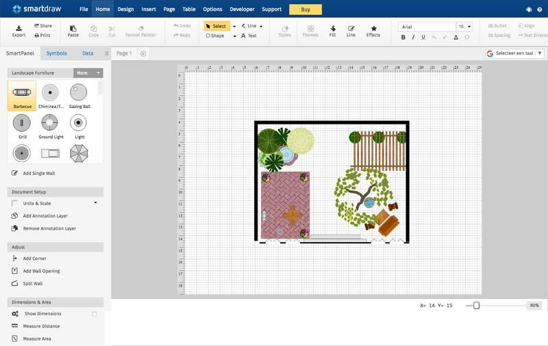 tuin ontwerpen online tools smartdraw