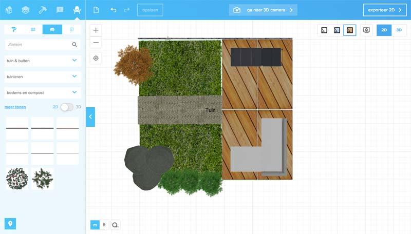 Tuin ontwerpen online tools Floorplanner