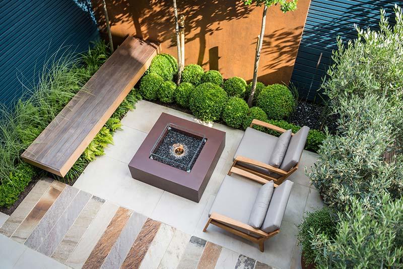 tuin voorbeelden luxe stadstuin