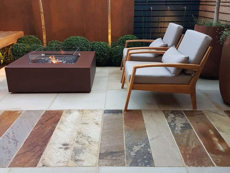 tuin voorbeelden luxe tegels