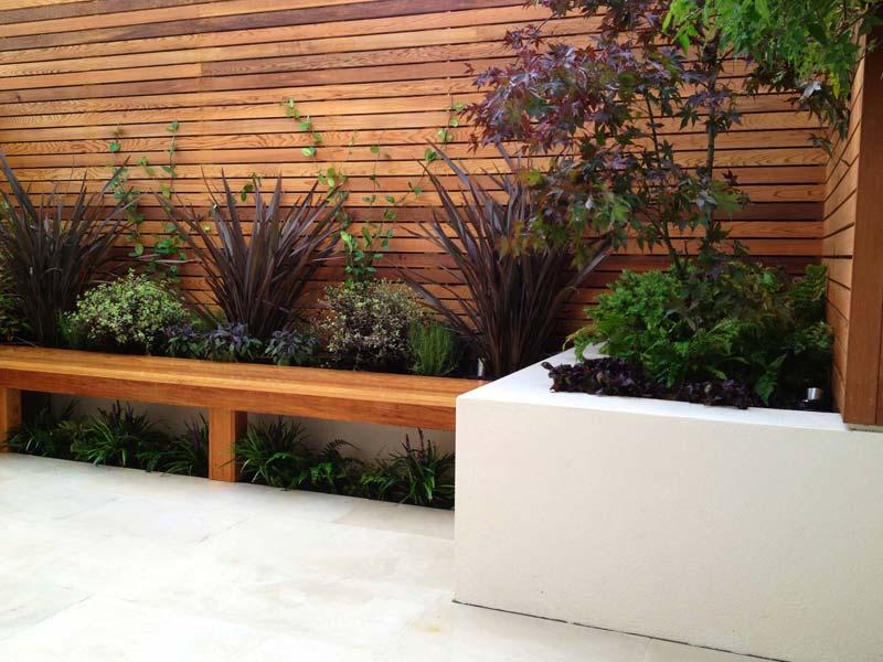 tuin voorbeelden moderne tuin vaste plantenbakken