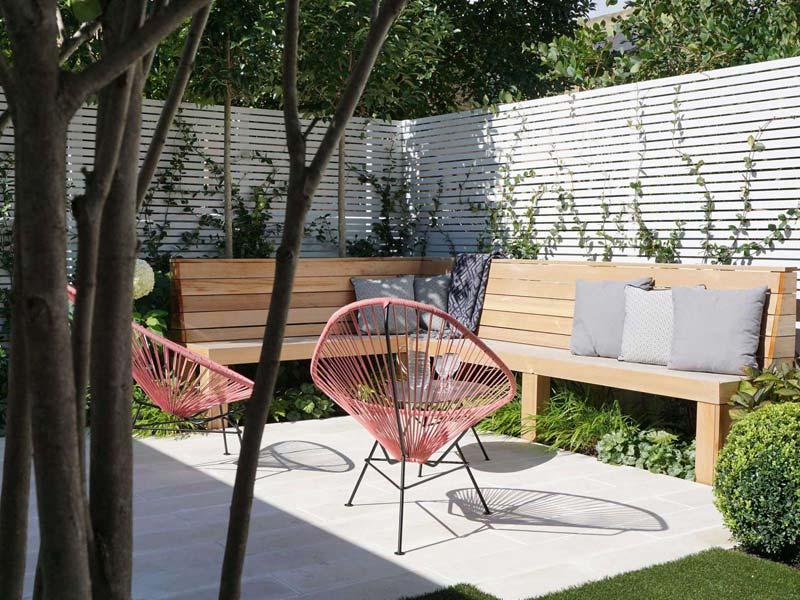 tuin voorbeelden moderne tuin zithoek