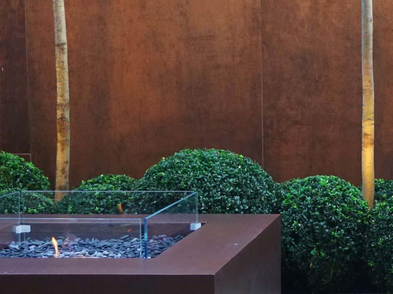 tuin voorbeelden moderne vuurkorf