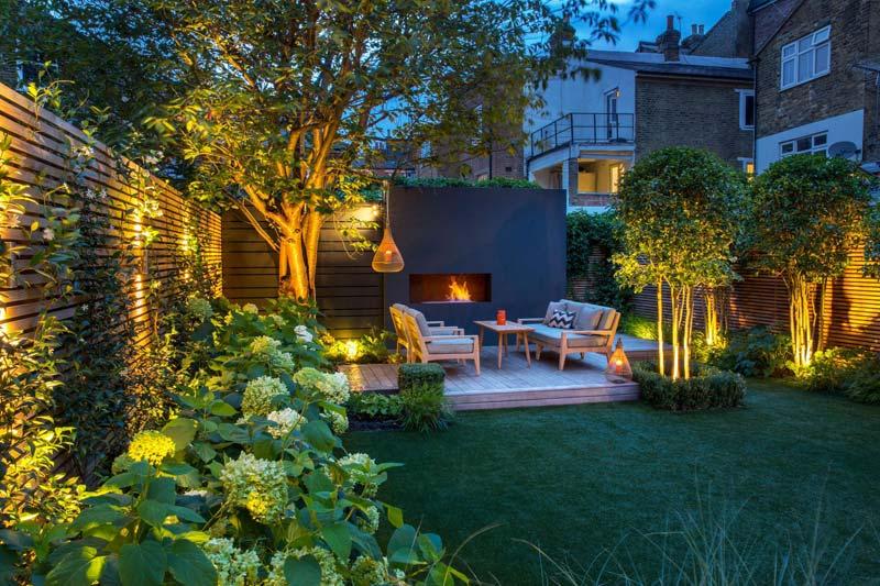 tuin voorbeelden sfeervolle tuin verlichting