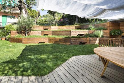 tuin ontwerp met hoogteverschillen inrichting. Black Bedroom Furniture Sets. Home Design Ideas