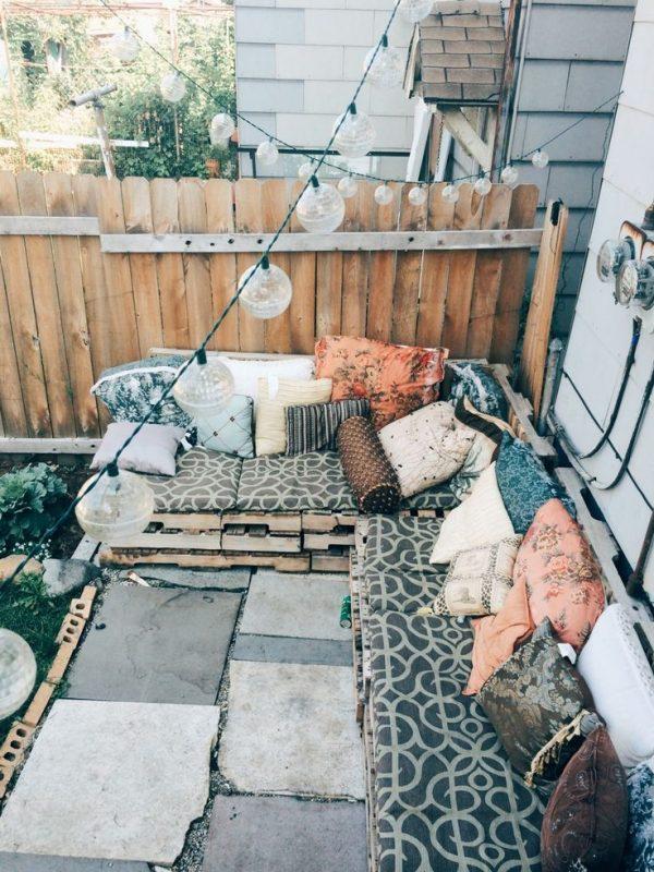 tuinbank op maat houten paletten