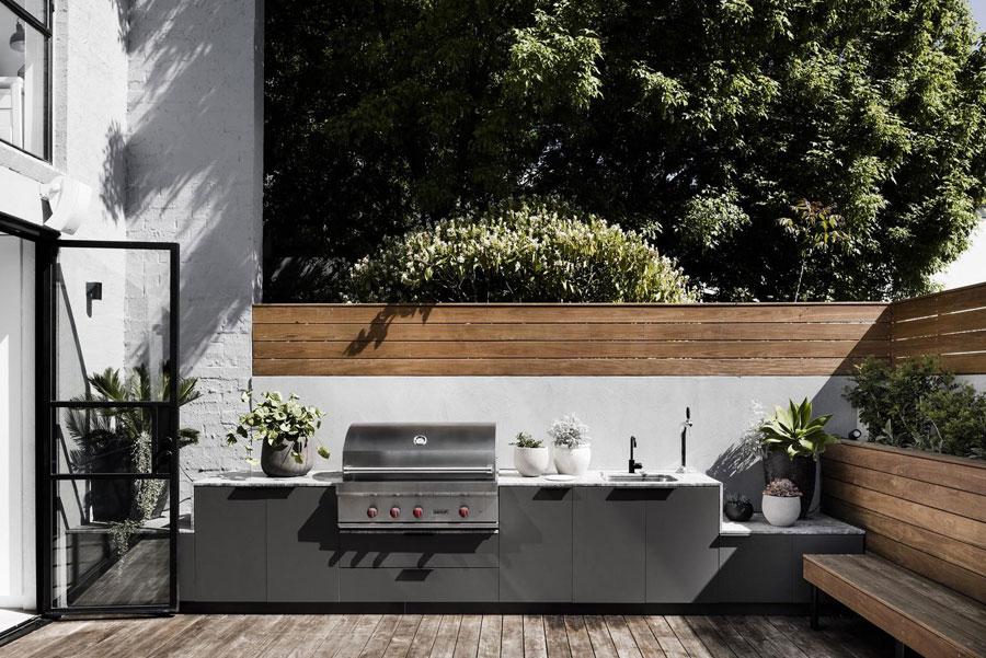 tuinbank op maat keuken