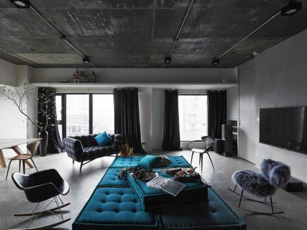 Elegantie in een industriële woonkamer | Inrichting-huis.com