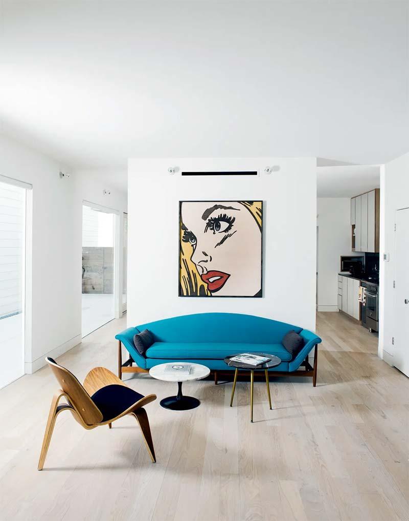 turquoise bank interieur kleur