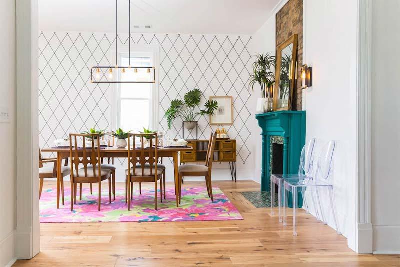 turquoise kleur interieur schouw