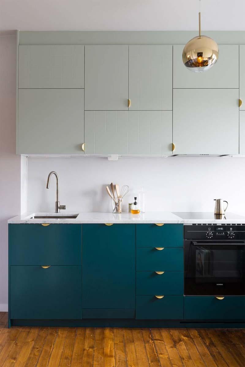 turquoise kleur keuken ikea