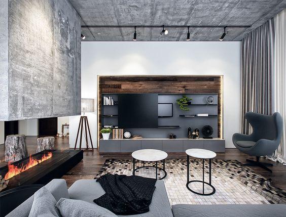 TV aan andere muur dan open haard