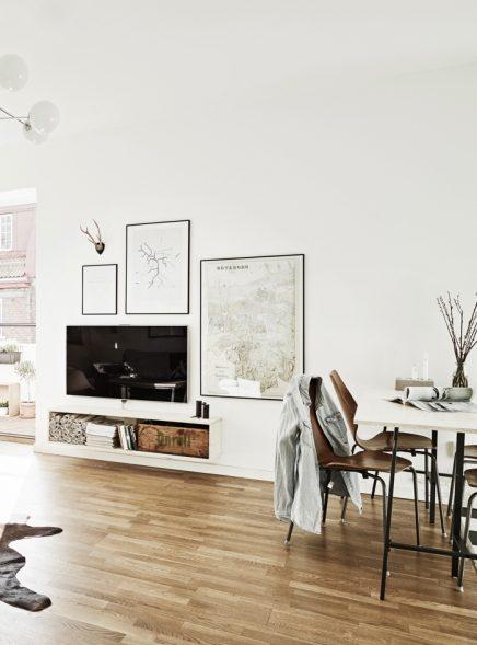 TV aan de muur