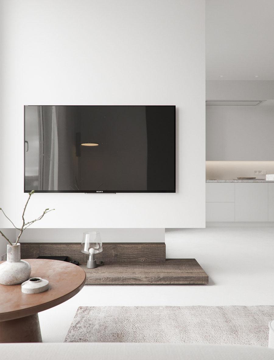 tv aan muur houten tv meubel