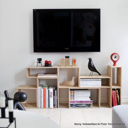 TV boven meubel