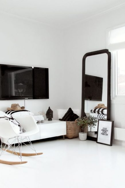 TV boven TV-meubel