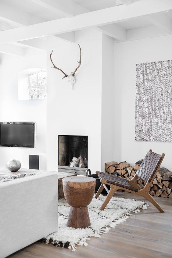 Tv en open haard combineren inrichting - Decoratie kamer thuis woonkamer ...