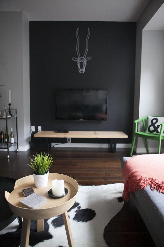 TV verbergen met een zwarte muur