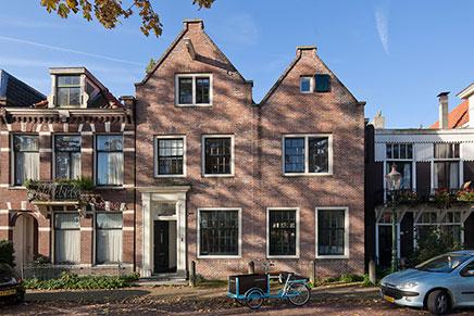 Twee huizen in één samengevoegd